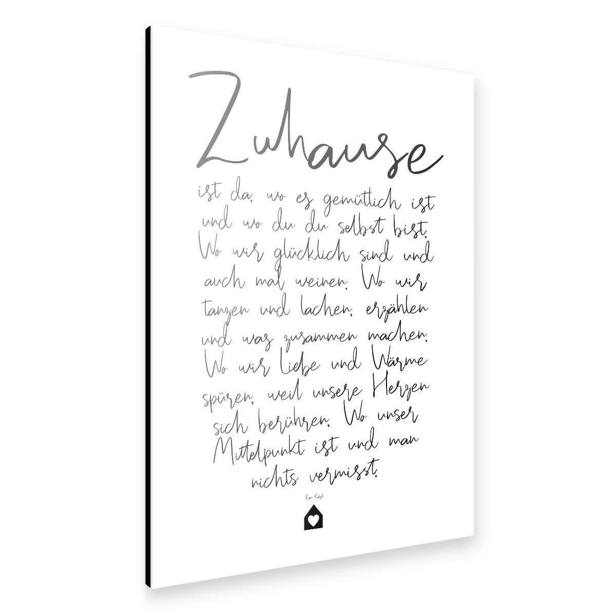 Purchase The Zuhause Ein Gedicht As A Alu At Artboxone