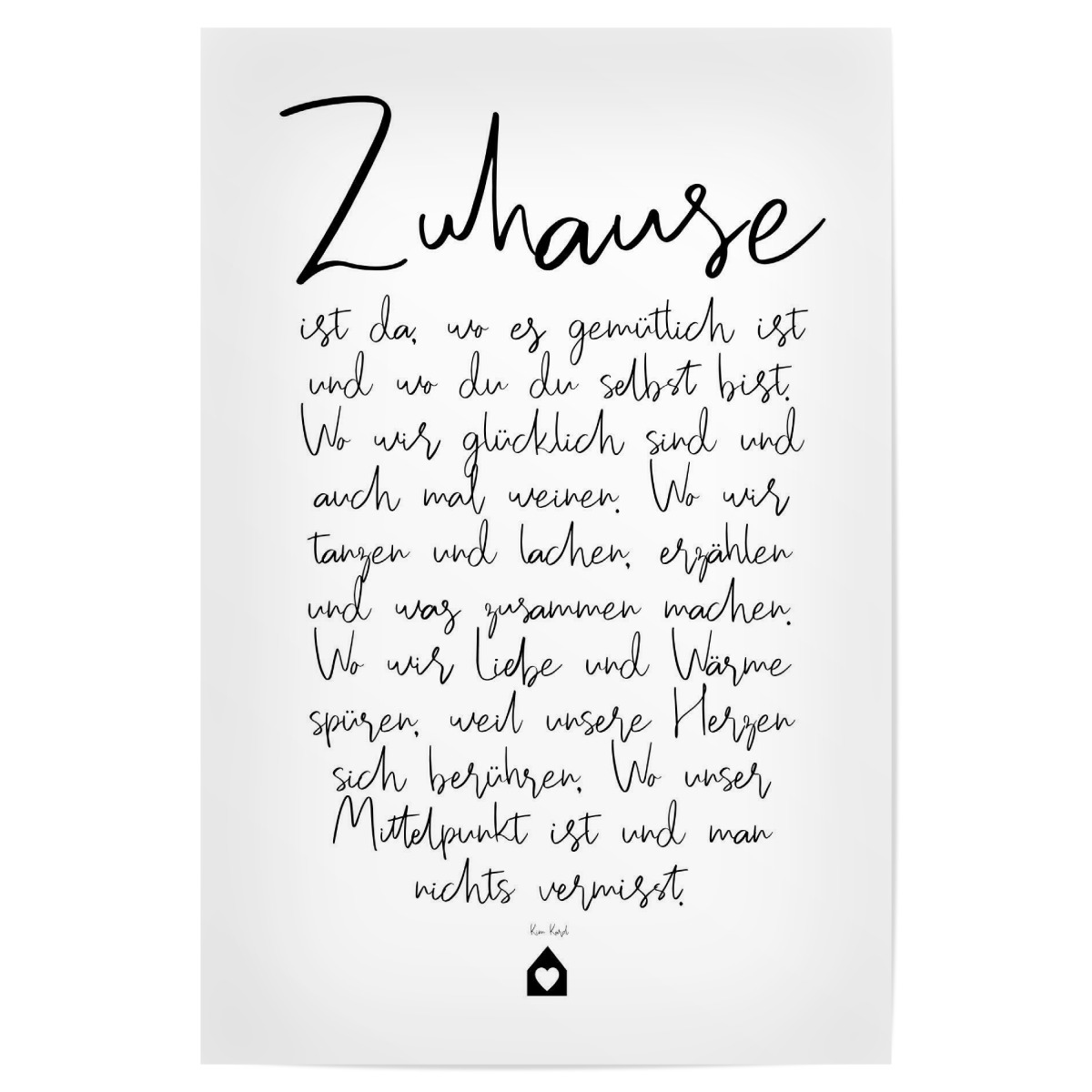 Purchase The Zuhause Ein Gedicht As A Poster At Artboxone
